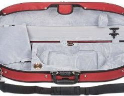 Bobelock Half Moon Puffy 1047P 4/4 Violin Case with Red Exterior and Grey Interior